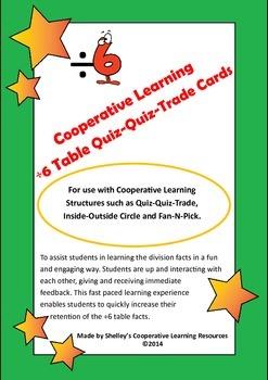 Quiz Quiz Trade Division By 6 Cards