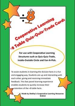 Quiz Quiz Trade Division By 8 Cards
