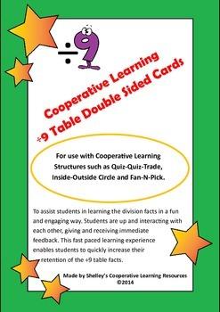 Quiz Quiz Trade Division By 9  Flash Cards