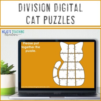 Halloween Math Centers: Division Cat Puzzles