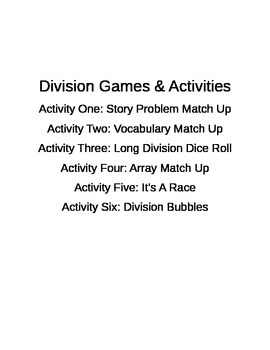 Division Center Games