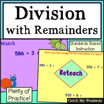 Division - Changing Remainders to Fractions for Promethean Boards