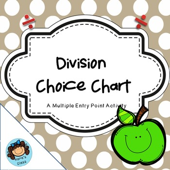 Division Choice Chart- Multiple Entry Points