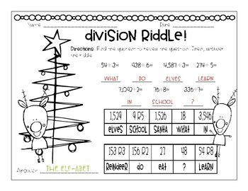 Division Christmas Riddles