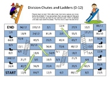 Division Chutes and Ladders (0-12)