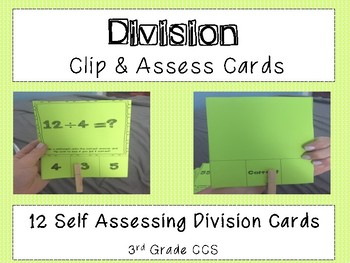 Division Clip and Assess Cards