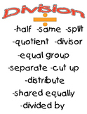 Division Clue Words