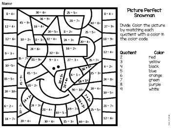 Division Color By Number