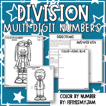 Division Color By Number 5.NBT.6 and 5.NBT.7