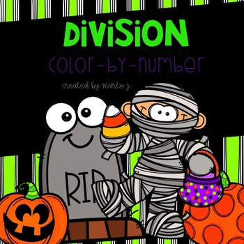 Division Color-By-Number Halloween Themed