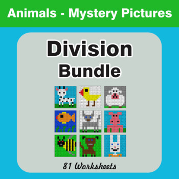 Division - Color-By-Number Mystery Pictures Bundle
