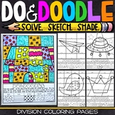 Division Coloring Pages | Division Color by Number