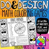 Division Facts Color by Number Games | No Prep Math Games