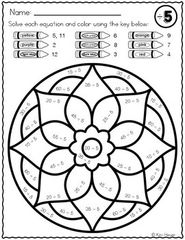Division Color By Number Mandala Coloring Pages Volume 1 By Kim Heuer