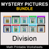 Division - Color by Number - Math Mystery Pictures - BUNDLE
