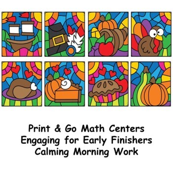 Division Color by Number Thanksgiving Math Mystery Pictures