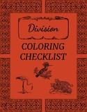 Division Coloring Checklist