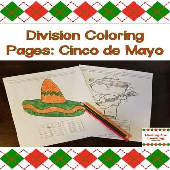 Division Coloring Pages: Cinco de Mayo