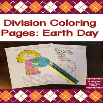 Division Coloring Pages: Earth Day