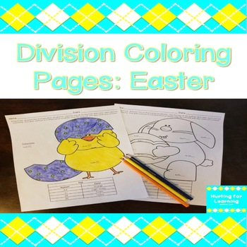 Division Coloring Pages: Easter
