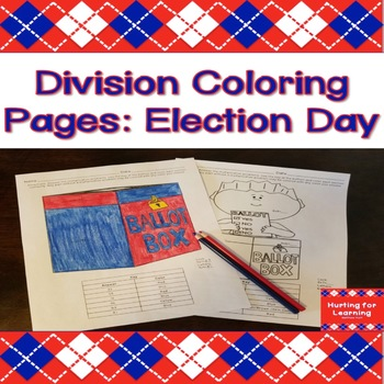 Division Coloring Pages: Election Day