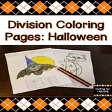 Division Coloring Pages: Halloween