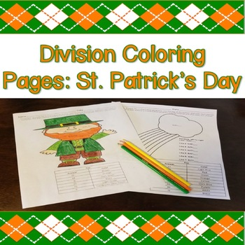 Division Coloring Pages: St. Patrick's Day