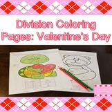 Division Coloring Pages: Valentine's Day