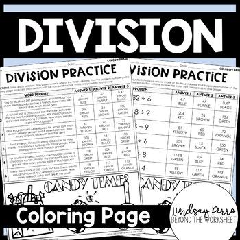 Division Coloring Worksheet