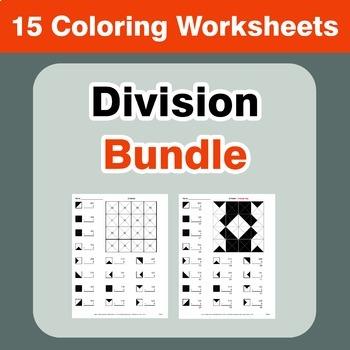 Division Coloring Worksheets Bundle