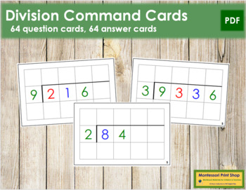 Division Command Cards - color coded