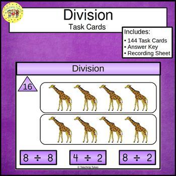 Division Concepts Clip Cards
