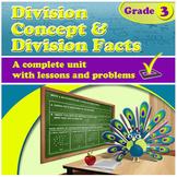 Division Concept & Division Facts - grade 3, common core (