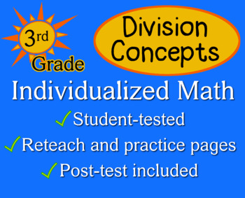 Division Concepts, 3rd grade - Individualized Math - worksheets