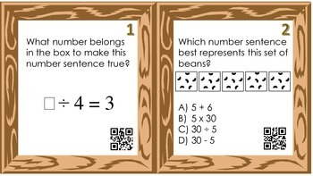 Division Concepts Task Cards with QR Codes