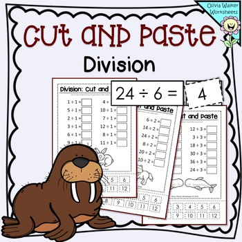Division Cut and Paste Worksheets / Printables ( Fun Math )