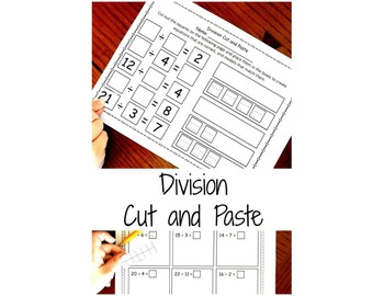Division Cut and Paste with Arrays, Number Lines, and Grouping