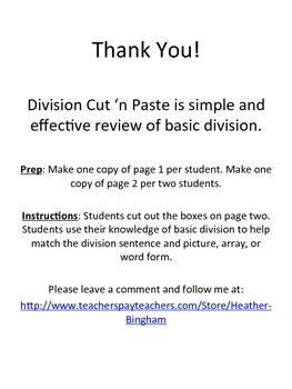 Division Cut 'n Paste