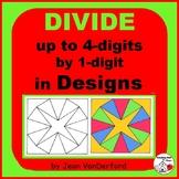 Division 4-digits by 1-digit | GEOMETRIC DESIGNS | Color CORE MATH Gr  4-5
