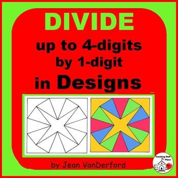 Long Division ... Color GEOMETRIC DESIGNS   CORE MATH Gr  4-5