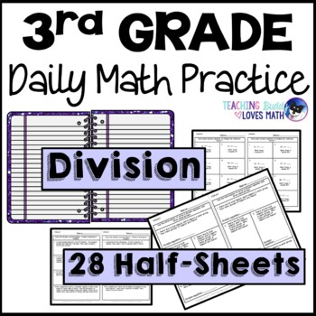 Division Daily Math Review 3rd Grade Bell Ringers Warm Ups