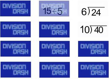 5th Grade Math Drills: Division Dash