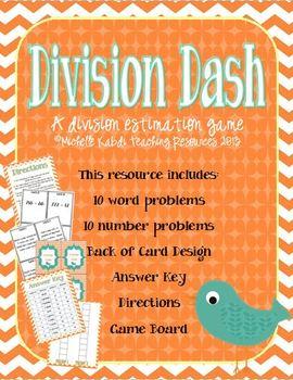Division Dash - A Division Estimation Game