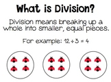 "Division Dash - Division Posters, Dominoes, Flash Cards, AND ""I HAVE, WHO HAS?"""