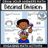 Division Decimals Power of 10 Math Worksheets