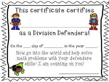 Division Defenders: Basic Fact Booklet