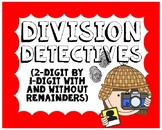Division Detectives: Dividing With and Without Remainders Task Cards #4