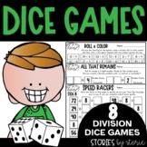 Division Dice Games   Printable and Digital