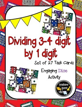 Division Dice Task Cards - Set of 27