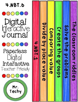 Division Digital Interactive Notebook for Google Classrooms